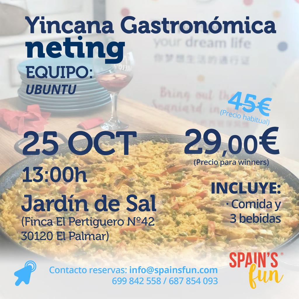 Yincana Gastronomica Spain's FUN - Neting